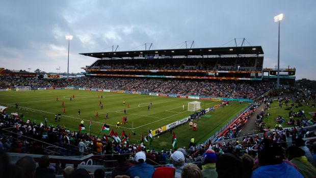Hunter Stadium, which hosted the Japan v Palestine match earlier in the tournament, is operating at the reduced capacity ...