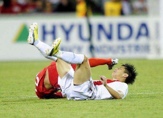 China P.R. player Hao Junmin in action.