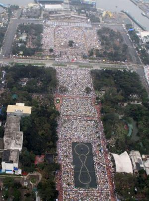 Part of the crowd of 6 million in Manila.