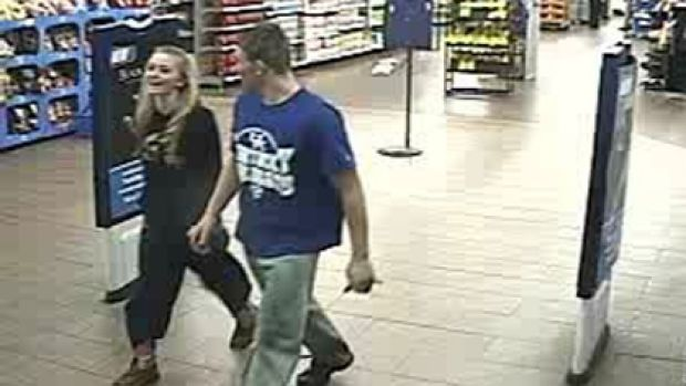 Dalton Hayes and Cheyenne Phillips leave a Wal-Mart in South Carolina while allegedly on the run for a string of ...