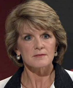 Julie Bishop deploys her infamous death stare during an episode of Q&A.