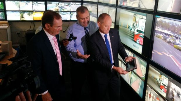 Premier Campbell Newman in Ipswich with Mayor Paul Pisasale.