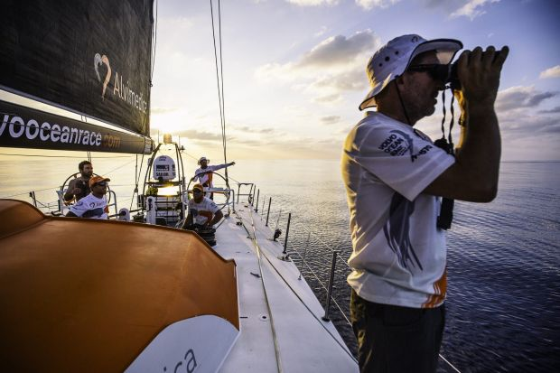 All at sea: Team Alvimedica experienced a tough 48 hours in the Bay of Bengal of little-to-no wind and staggering heat ...