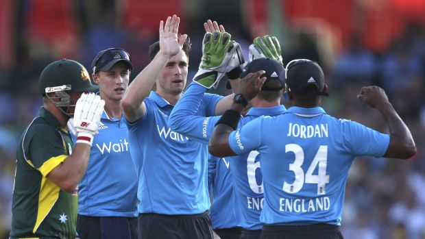 Series opener: A man was removed early on in the Australia-England match on Friday after being suspected of using his ...