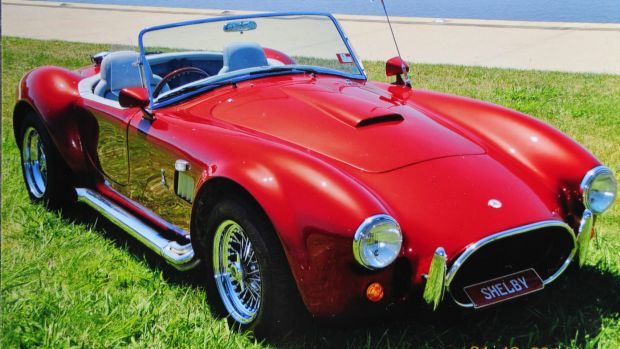 The red AC Cobra is one of only a small number of its kind in Australia.