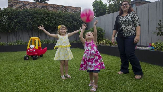 Every chance: Daniella Di Santo with daughters Sienna, 5, and Verona, 3.
