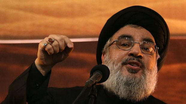 Stretched: Hezbollah leader  Hassan Nasrallah is sending fighters to Syria to back up the army of President Bashar ...