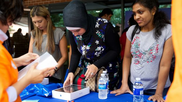 Students who have already agreed to study at the University of Western Sydney flocked to the Parramatta campus on ...