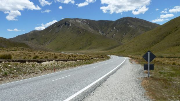 The Lindis Pass close to where the altercation took place.