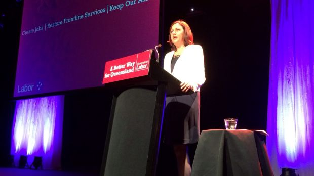 Opposition Leader Annastacia Palaszczuk at the Queensland Labor campaign launch.