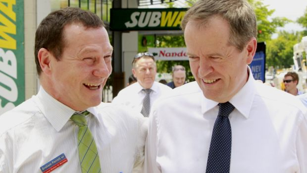 Labor MP Graham Perrett (pictured with leader Bill Shorten) has spoken to Liberal and Greens MPs about prospect of a ...