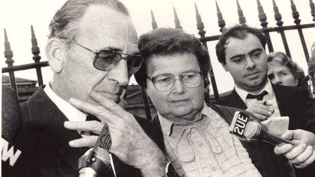 Gary and Grace Lynch, parents of Anita Cobby, pictured leaving court after guilty verdicts were handed down in June 1987 ...