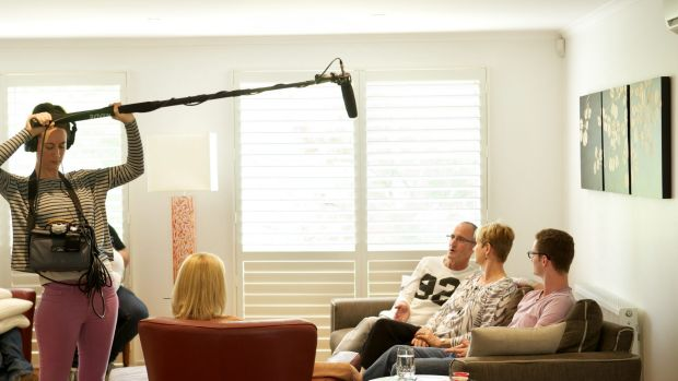 The Shorts with Jane Cadzow and a documentary crew filming Peter Short's last months.