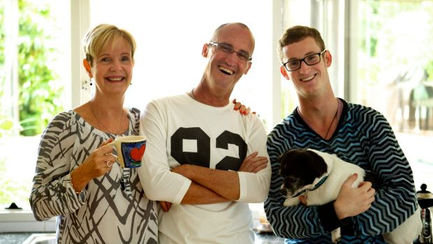 Making it count: Elizabeth, Peter and Mitchell Short at home.