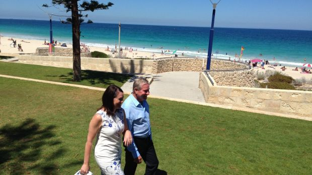 Ms Harvey (pictured with Premier Colin Barnett) will replace Kim Hames who announced he would step down from the deputy ...