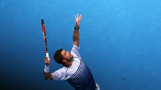Stanislas Wawrinka appeared to be in a hurry.