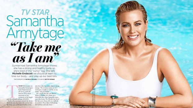 Armytage in a shot from the AWW spread.