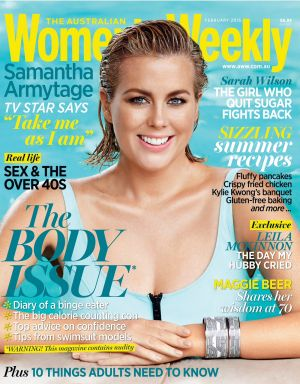 Samantha Armytage on the cover of <i>Australian Women's Weekly</i>.