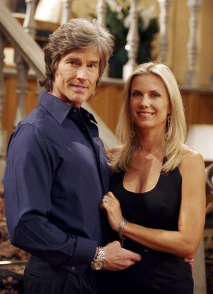 Ronn Moss and Katherine Kelly Lang in more recent times.