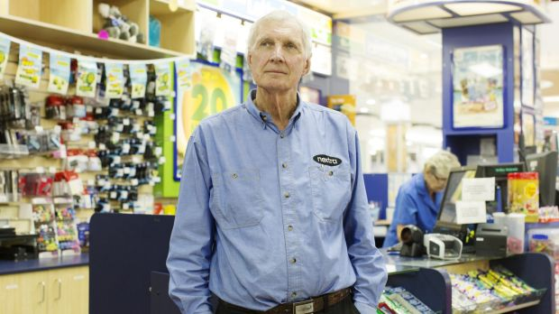 """Jeffrey Johnson, owner of the Mona Vale newsagency: """"We used to be the only people who could sell newspapers, it's quite ..."""