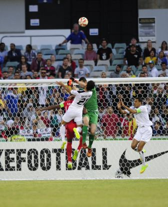 Iraq vs Palestine in the AFC Asian Cup at Canberra Stadium.