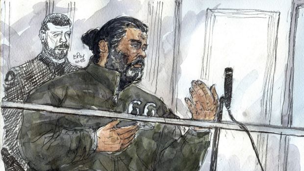 A court sketch made on January 19 shows Fahd Jobrani, a 36-year-old man from Morocco, who is accused of planning violent ...