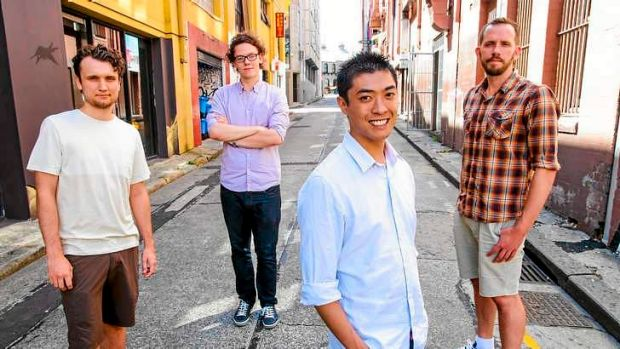 Willis Smith (left), David Coonan, Dhani Wong and Trent Naylor have set up their own video game development company ...