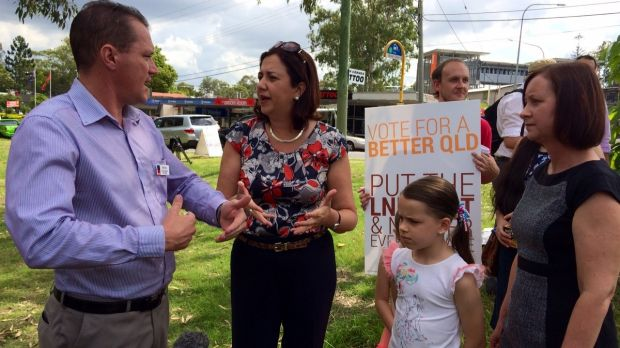 The Palaszczuk campaign reaches the Ferny Grove electorate.