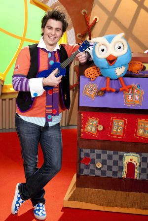 James Rees as Jimmy Giggle in the stage show <i>Giggle and Hoot and Friends</i> which is on at Canberra Theatre.