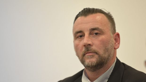 Posed as Hitler ... PEGIDA organiser Lutz Bachmann has resigned from Germany's anti-Islam organisation.