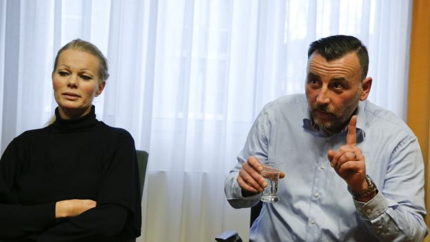 PEGIDA leader Kathrin Oertel has accepted the resignation of her co-leader Lutz Bachmann (right) after he called ...