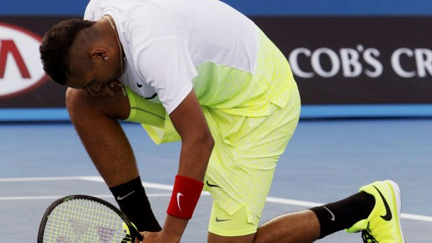 """Nick Kyrgios has been accused of being """"cocky"""" during his post-match interview."""