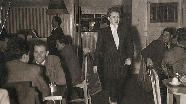Val Eastwood at Val's Coffee Lounge in the1950s.