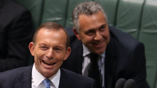 Prime Minister Tony Abbott and Treasurer Joe Hockey don't have a lot to laugh about these days but Mr Abbott says a ...