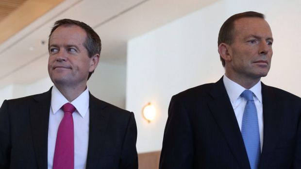 Prime Minister Tony Abbott and Opposition Leader Bill Shorten: Both men need to work hard to survive through to the next ...