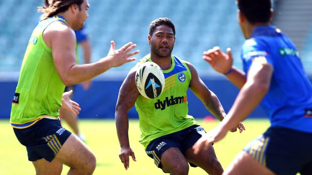 Caught in the middle: Controversial  Parramatta halfback Chris Sandow.