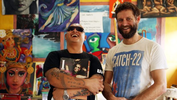 Artist Ben Quilty (right) has called for Sydneysiders to attend a candlelight vigil for Andrew Chan (left) and fellow ...