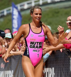 Australian Ironwoman Courtney Hancock said she does fell more tense when she has her period during a big race, but it ...