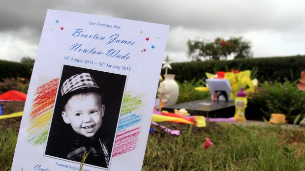 Family and friends said goodbye to Braxton at the Centenary Memorial Gardens, west of Brisbane.