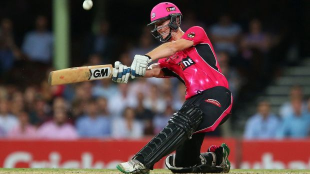 Big hitter: Jordan Silk smashed five sixes in a 43-ball 69 not out.