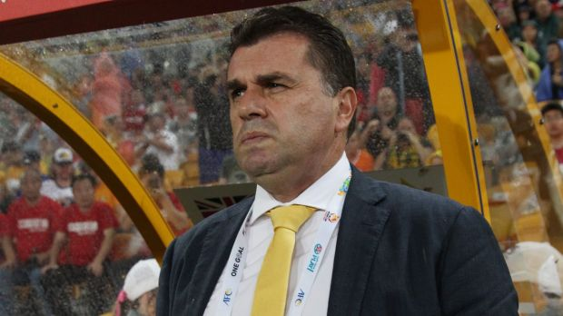 Sticking to the development plan ... Australian coach Ange Postecoglou is not impressed with the rumours and criticism ...