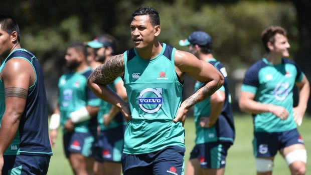 At the back: Israel Folau will play at No. 15 against the Chiefs.