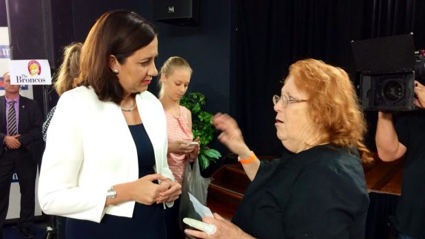 Annastacia Palaszczuk answers questions as the forum winds up.