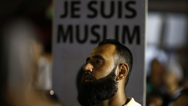 'Je Suis Muslim': A Muslim man defends his religion in Lakemba.