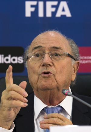 Under pressure: FIFA president Sepp Blatter faces challenges in his bid for a fifth term in office.