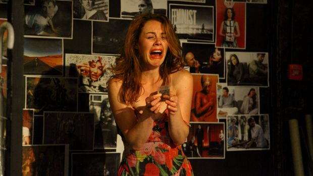 Hilariously undignified: Nikki Shiels unravels brilliantly as playwright Zoey Dawson.