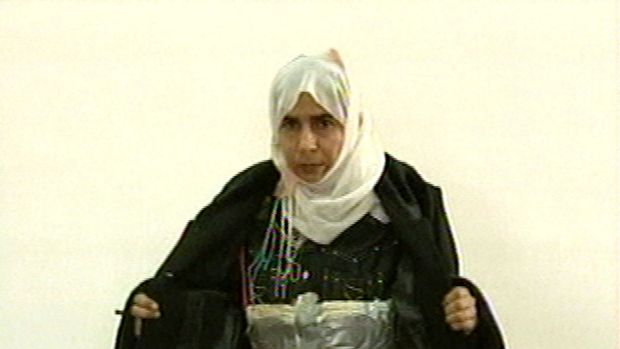 Islamic State are demanding the release of Sajida al-Rishawi, pictured here wearing a suicide vest.