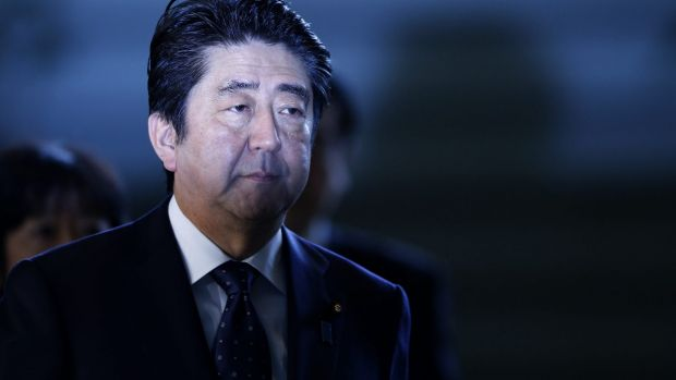 "Japanese Prime Minister Shinzo Abe is ""shocked"" by an American textbook's depiction of World War II ""comfort women""."