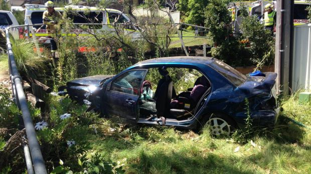 The vehicle involved in a crash at Green Point on the NSW Central Coast.