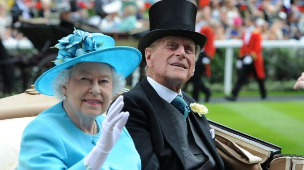 We are amused: The Queen and Prince Philip.
